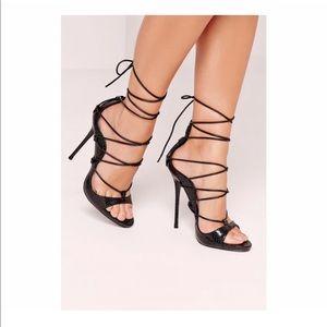 NIB - Missguided Footwear - Lace Up Black Sandals